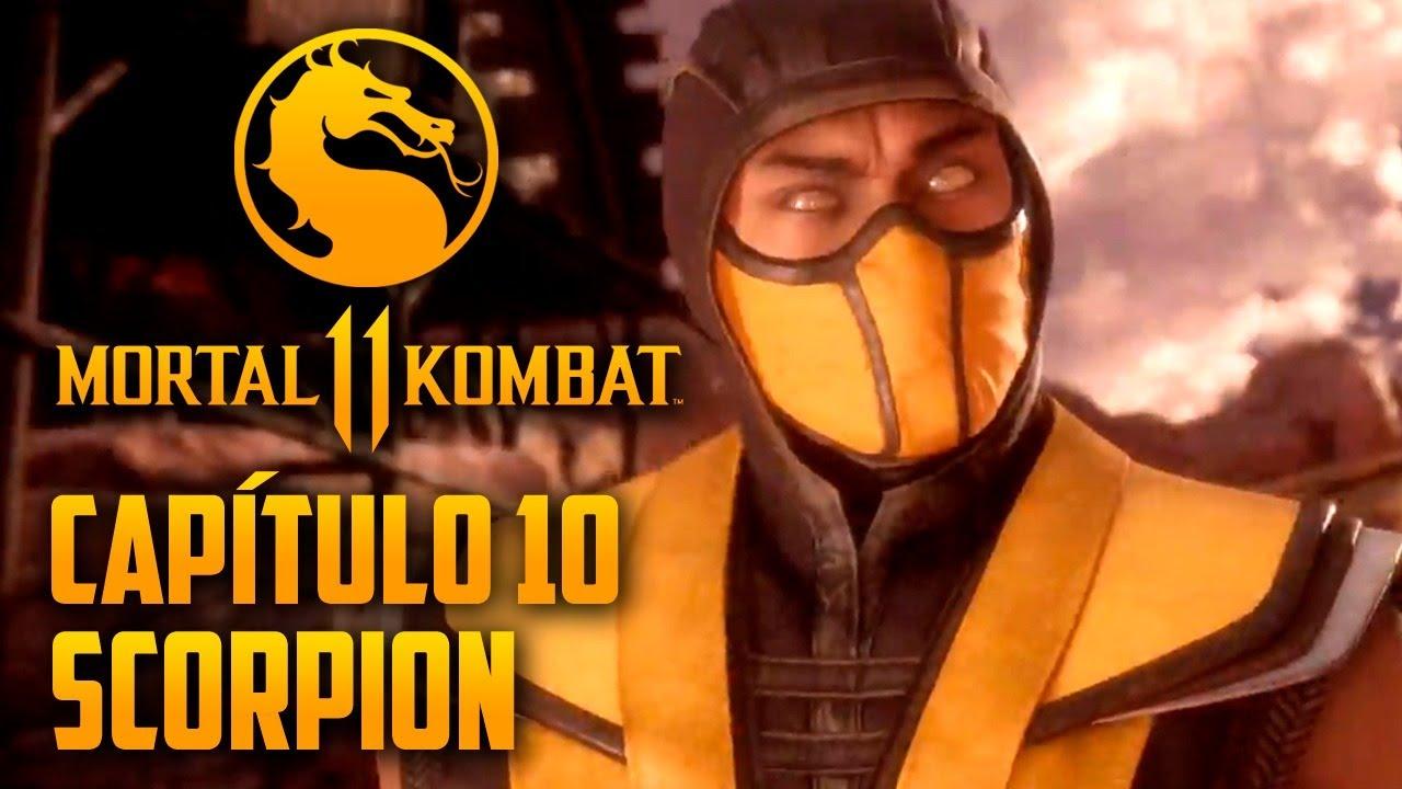 Mortal Kombat 11 Capitulo  10 - SCORPION, o guerreiro amaldiçoado (PT-BR PS4 PRO)