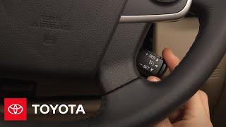 Toyota: Cómo Usar:El Control de Velocidad de Crucero| 2014.5 Camry | Toyota