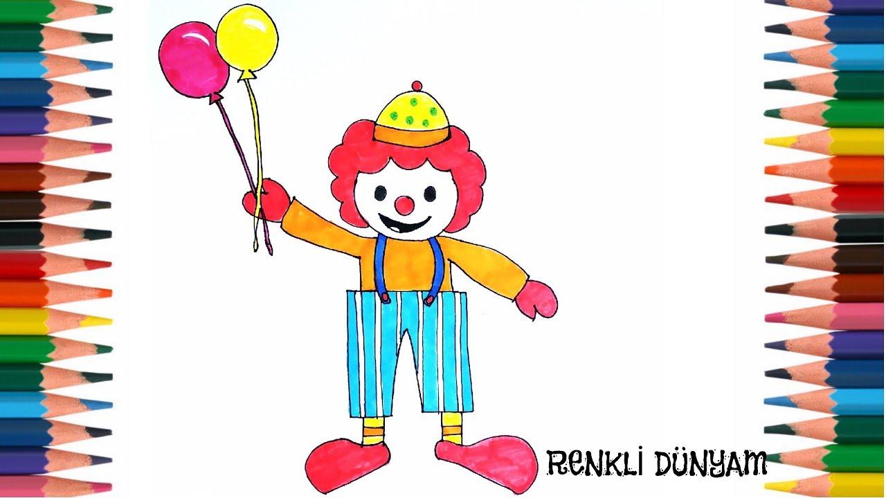 Palyaço Nasıl çizilir Palyaço çizimi How To Draw A Clown Renkli
