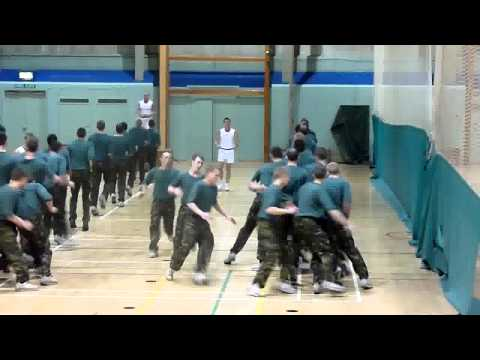 Royal Marine Recruits 127 Troop in the Gym - 2