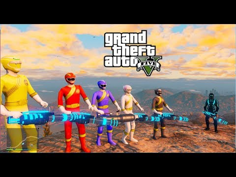 GTA 5 - Gao Ranger Đi Cướp Súng Alien Lazer Của Tron Legacy