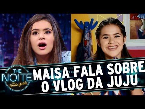 The Noite (29/09/16) - Maisa fala sobre sua amiga Juliana Almeida, do Vlog da Juju
