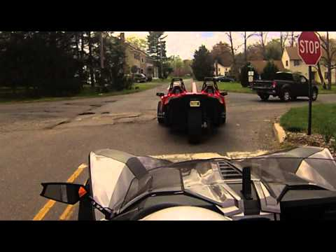 Polaris Slingshot Rental Road Action