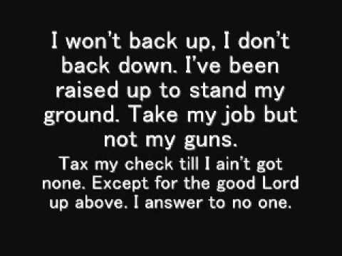 Answer to no one- Colt Ford. ft. JJ Lawhorn (lyrics)