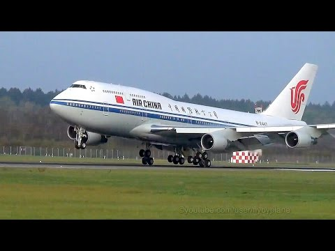 Air Force One of China | Air China B747 [B-2447] | Landing @ Hamburg Airport