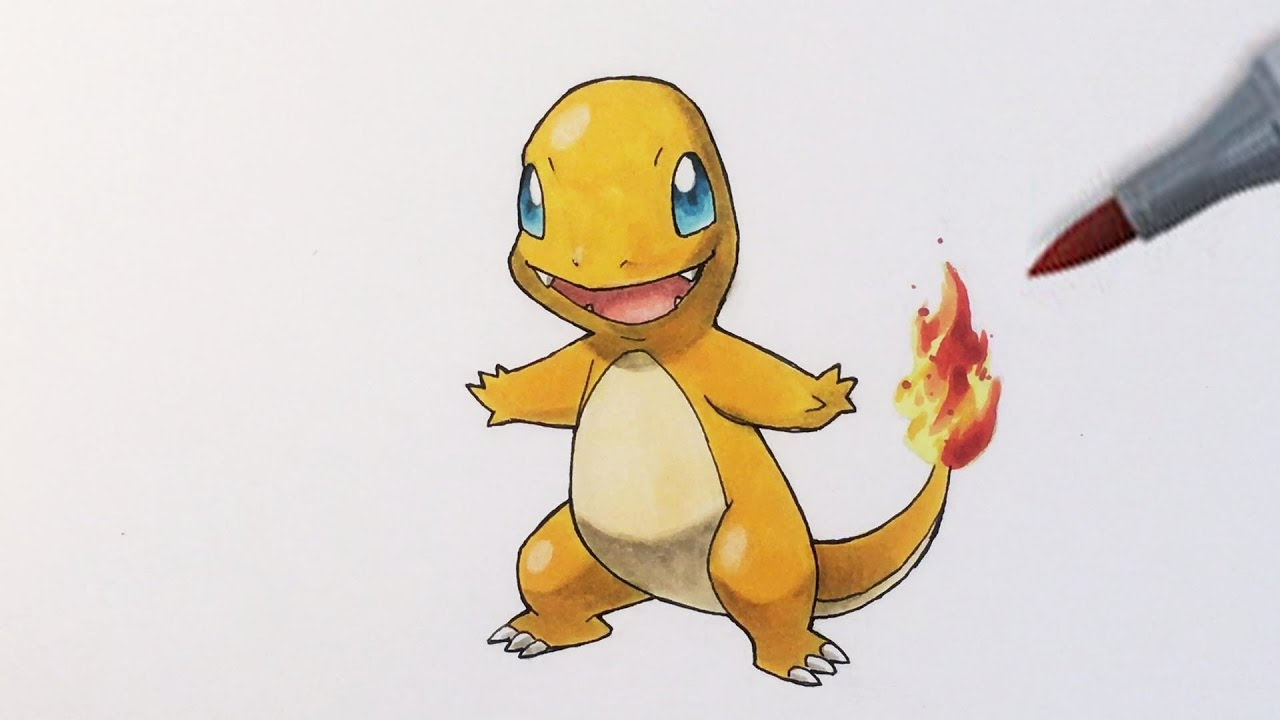 Pokémon Zeichnen 004 Glumanda Youtube
