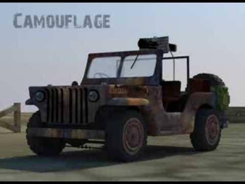 Camouflage - Desert Jeep