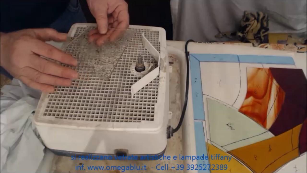 Molatura Vetro Fai Da Te corso per vetrate artistiche online tecnica tiffany la mola e molatura del  vetro lezione 4