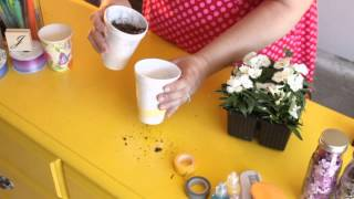 How To Make Flower Pots From Foam Cups : Craft Project Tips