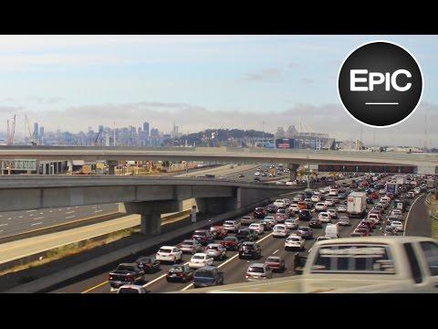 Interstate 580, Interstate 880, interstate 80 & Bay Bridge - Oakland & San Francisco, USA (HD)