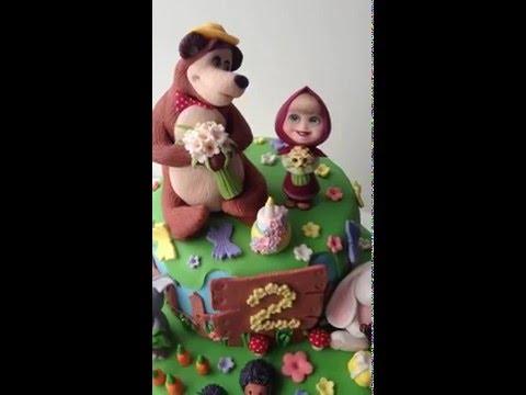 Авторский торт Маша и медведь от кондитерской EvaBonBons