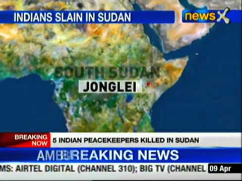 South Sudan: Five Indian peace keepers killed