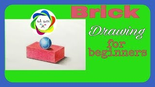 How to Draw a Brick with pencil colours || Brick Drawing for Bigenners|| ईंट का चित्र ||srkarts||