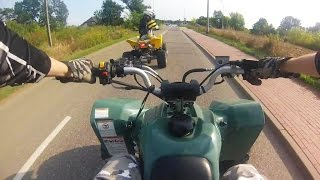Quad Goon Riding   ATV + GoPro + Chest mount   Quady Suzuki LTZ400 jazda zabawa ulica droga