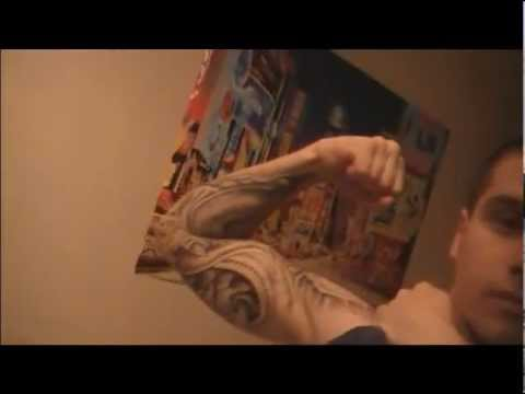 stavross showing off his tattoo CONTAINS EXPLICIT SONG LYRICS