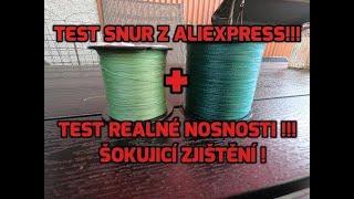 Test šňury z Aliexpress 2. Retest nižších pruměrů. Linethink a Jackfish braided fishing line.