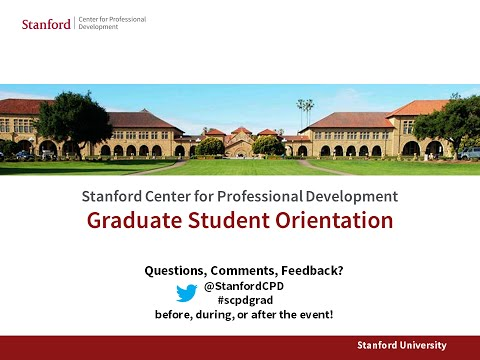 Stanford Event - 2015 Graduate Student Orientation