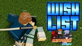 Shinobi Story Wish List + Beating Rock Lee is too Easy | Roblox