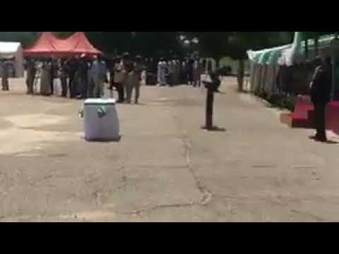 Watch President Buhari At Operation Lafiya Dole HQ. in Maiduguri To Celebrate #NigeriaAt57