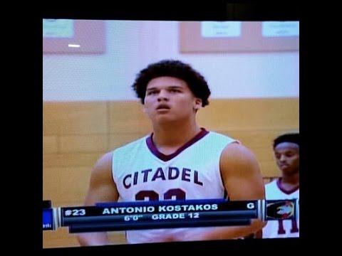 "Antonio Kostakos (6'0"" G, Class of 2016) - 6 Game Citadel High Mixtape"
