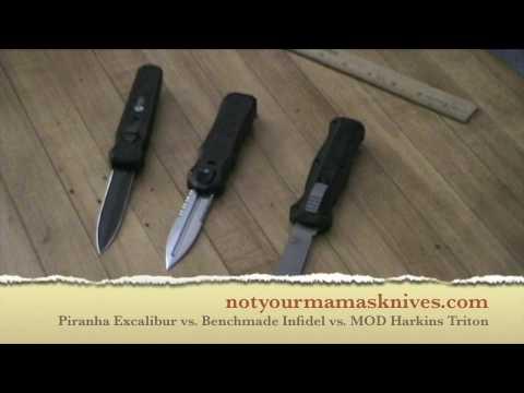 Piranha Excalibur vs Benchmade Infidel vs MOD Harkins Triton