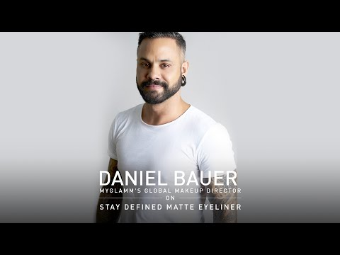 Makeup Director Daniel Bauer | STAY DEFINED 2 in 1 Liquid Eyeliner + HD Brow Powder  | MyGlamm