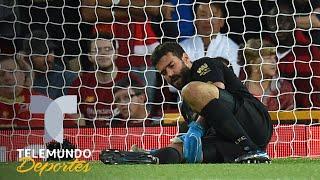 Liverpool vs. Norwich City: El blooper lesión de Alisson Becker | Telemundo Deportes