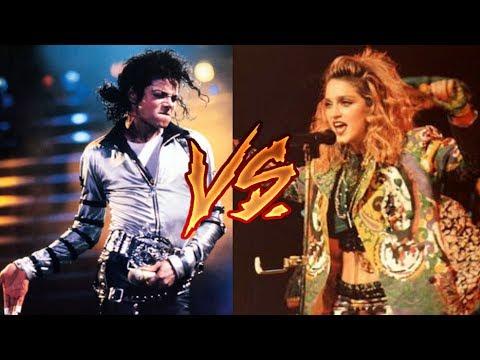 Michael Jackson Vs. Madonna (Record Sales, Live Performances)