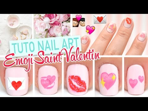 Nail art Emoji ♡ Spécial Saint Valentin