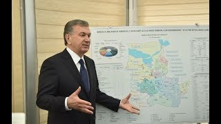 Президент Шавкат Мирзиёев 30 января 2019 года прибыл в Джизакскую область