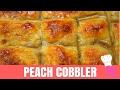 PEACH COBBLER - How to Make Peach Cobbler *MINARAS KITCHEN*