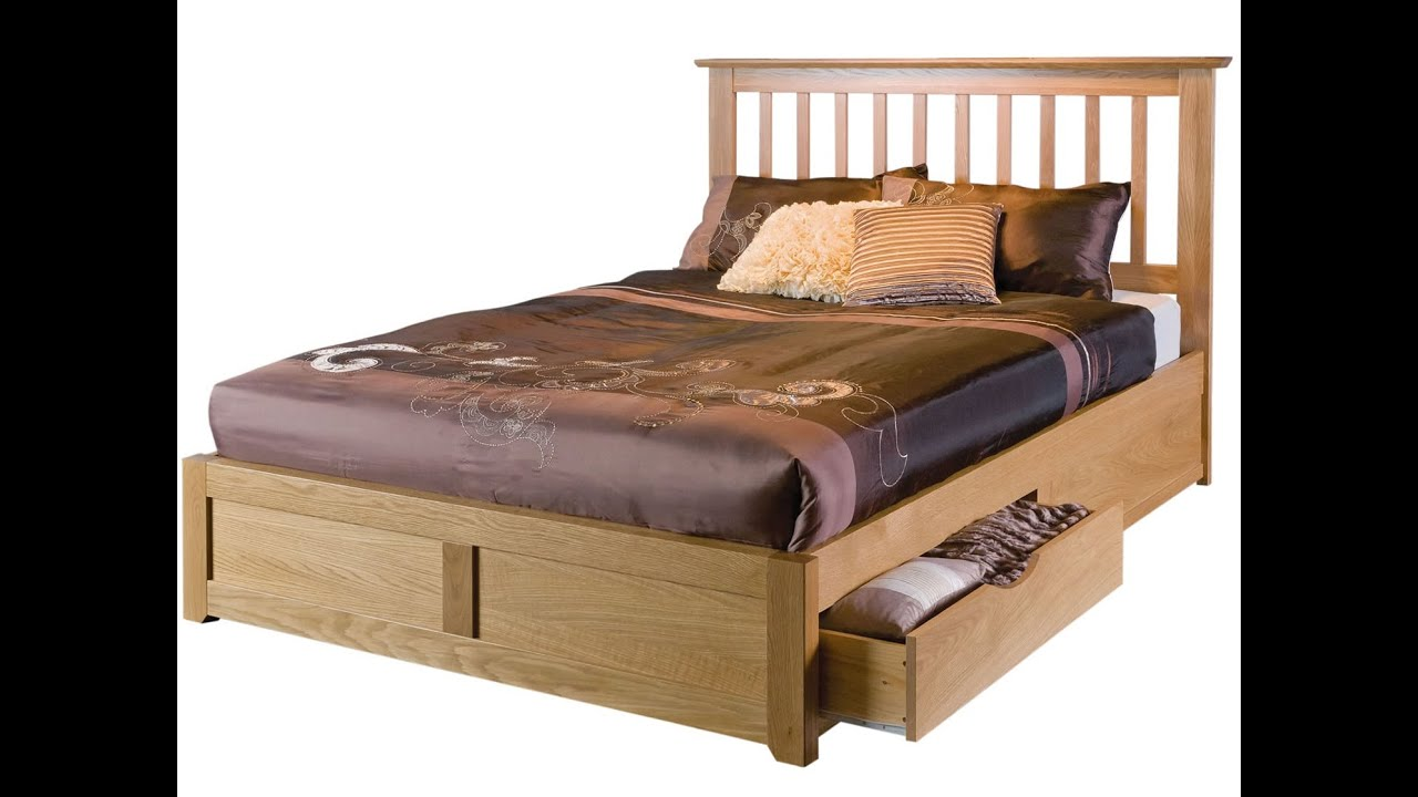 wooden bed frames youtube
