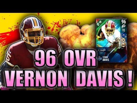 THREE PICK 6 IN ONE GAME! (96 VERNON DAVIS GAMEPLAY) - MADDEN NFL 17 ULTIMATE TEAM