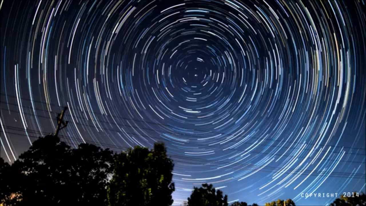 North Star STAR TRAILS Time lapse HD