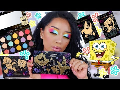 MAKEUP MONDAY | HIPDOT X SPONGE BOB MAKEUP COLLECTION REVIEW + FIRST IMPRESSIONS!  ohmglashes thumbnail