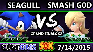 S@X 106 Customs - Seagull (Sonic) Vs. Smash God (Rosalina) SSB4 GF S2 - Smash Wii U - Smash 4