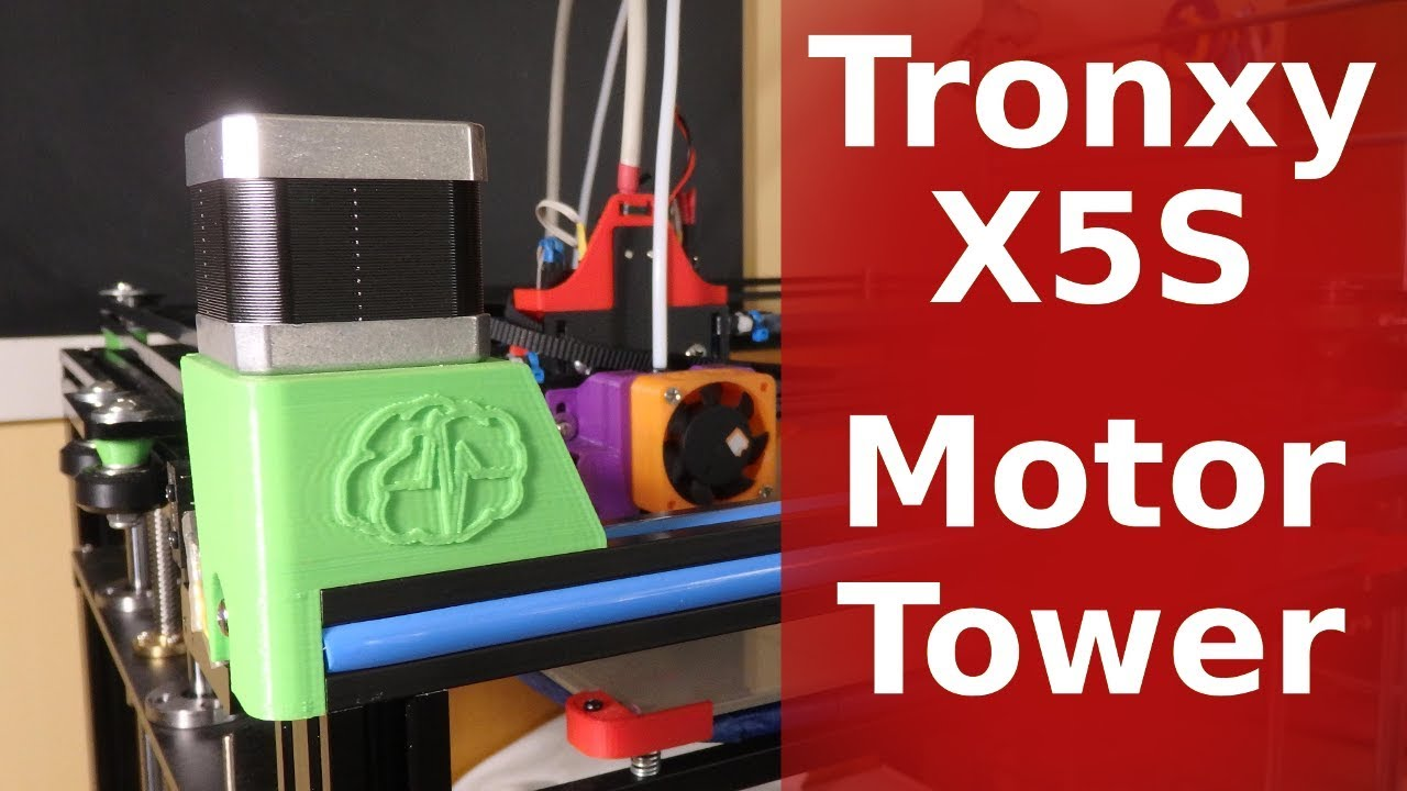 3D Printed Tronxy X5S Motors Towers - CoreXY 3d Printer by