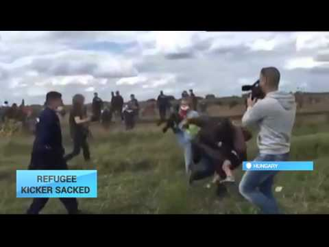 Hungary Refugee Kicker Sacked: Nationalist TV channel fires anti-refugee camerawoman