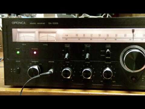 OPTONICA SA-5205 Stereo Receiver-No Sound
