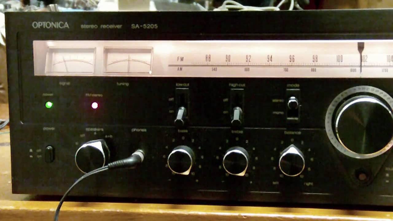 OPTONICA SA-5205 Stereo Receiver-No Sound