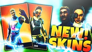"*NEW* ""BRITE GUNNER"" + ""STEELSIGHT"" SKINS in FORTNITE! FORTNITE NEW SKINS UPDATE!"