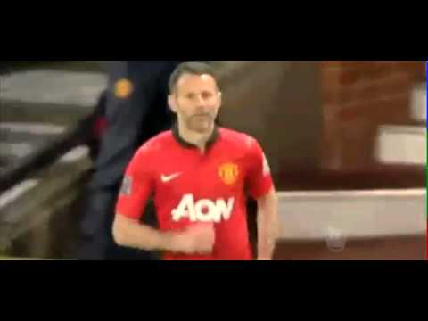 Ryan Giggs Substitutes himself as Player Manager   Manchester United Vs Hull City 2 1 06 05 2014