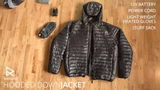 Ravean - Heated Hooded Down Jacket