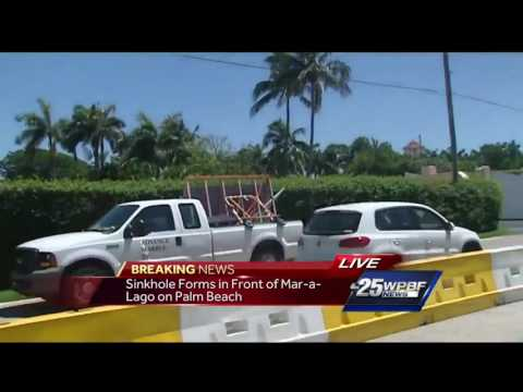 Sinkhole forms in front of Mar-a-Lago