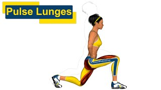 накачать ягодицы: Pulse Lunges