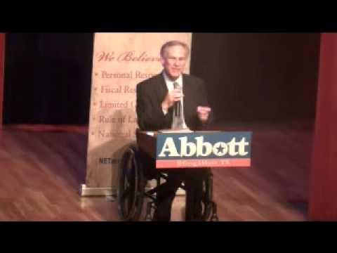 NE Tarrant Tea Party Hosts Texas Attorney General Greg Abbott