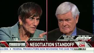 (part 1/3) Crossfire:  Rep. Raul Labrador, Rep. Rosa DeLauro on Shutdown Negotiations Stand Off