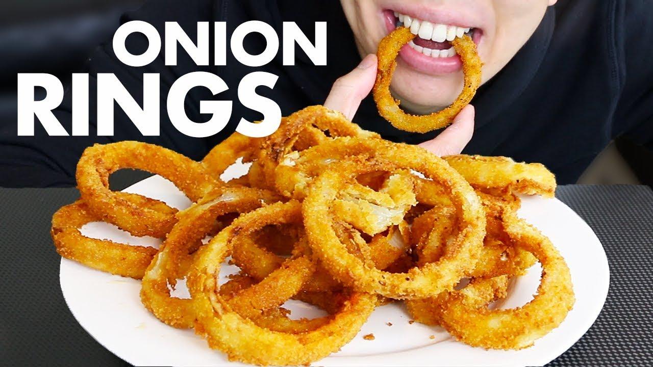 Asmr Onion Rings Mukbang Eating Sounds No Talking Asmr Crunchy Food Eating Onion Rings