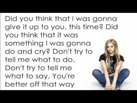 Avril Lavigne - Don't Tell me [Lyrics/Letra]