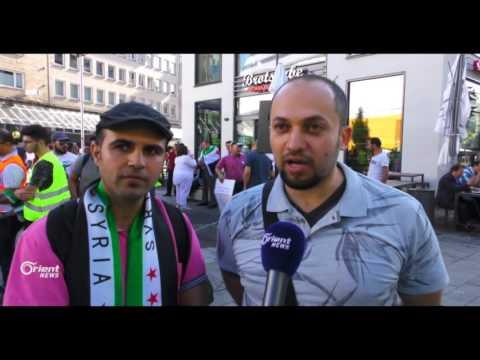 سوريون يتظاهرون احتجاجا على قمة العشرين في هامبورغ  - 21:21-2017 / 7 / 15